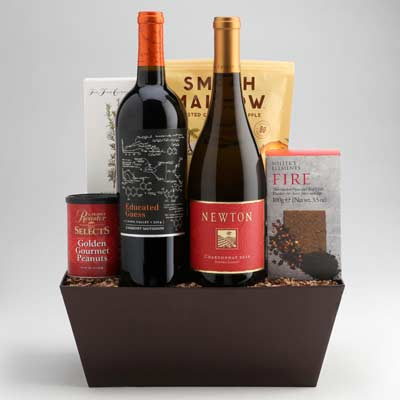 """High quality wine basket gifts from Wally's Wine in Los Angeles. """""""